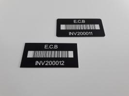 L'étiquette d'inventaire Aluminium